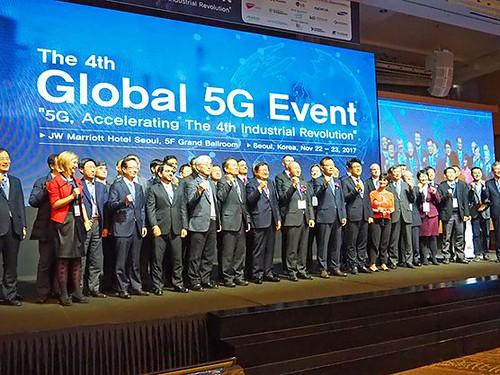 4th – Seoul, Coréia, 5G Forum, 22-23 de novembro de 2017 - 5