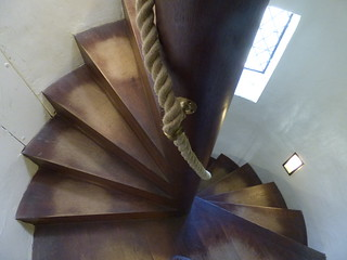 Charlecote Park - The House - spiral staircase