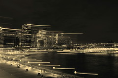 Monochrome at night (Ran 2018) Tags: sydney nightshots specialeffects