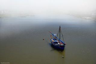 Small fishing boat in the sun