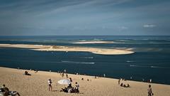 Vue sur la réserve naturelle du Banc d'Arguin (Phil_Heck) Tags: océan pilat dune sable mer sea plage paysage personnes ciel eau baie sand bleu