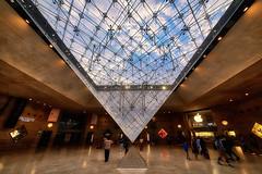 Louvre (abtabt) Tags: france paris museum louvre louvremuseum worldheritage parisbanksoftheseine art arts handheldhdr d700sigma1224 architecture pyramid structure glass underground