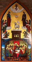 The Heavenly Banquet (Lawrence OP) Tags: agnusdei eucharist mass icon detroit sacredheart seminary lastsupper apostles trinity our lady