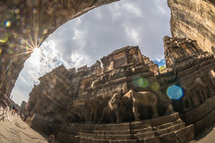 DSC_6283 (Ranjith_july) Tags: architecture archaeology paintings carvings india fisheye traveller wanderlust maharashtra aurangabad sky lowlight structure caves ellora ancient history buildings