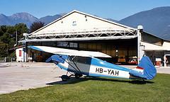 HB-YAH   Luton LA-5 Major [1] Locarno~HB 27/09/1984 (raybarber2) Tags: 1 airportdata cn1 flickr hbyah lszl planebase single slide swisscivil