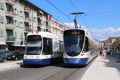 2018-08-10, TPG, Moillesulaz (Fototak) Tags: tram strassenbahn genève switzerland geneva tpg cityrunner flexity bombardier stadler tango ligne12 897 1822