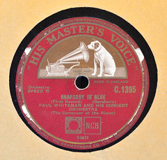 (238/365) Sunday August 26th (philk_56) Tags: 78 rpm vinyl record georgegershwin rhapsodyinblue paulwhiteman hismastersvoice label logo flickrfriday memorabilia