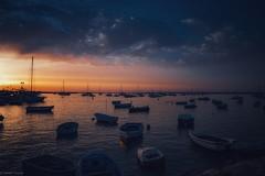 Sunset... (hobbit68) Tags: wasser water ozean atlantik sun summer sunset boote boats sky fujifilm xt2 himmel wolken clouds spanien sonne spain espanol espagne espana holiday urlaub red blau blue romantik hafen puerto playa port beach strand