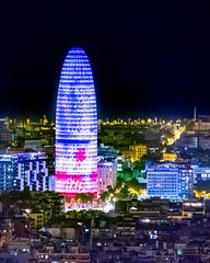 Torre Glòries (Kostas Trovas) Tags: barcelona bunkersdelcarmel jeannouvel architecture buildings city color composition construction gaudi highiso light night oval ovelisk ruleofthirds skyscraper spain tall torreglories urban viewpoint