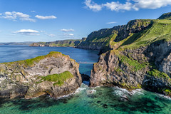 """""""Carrick-a-Rede Rope Bridge"""" (Gareth Wray - 10 Million Views, Thank You) Tags: sea ocean coast landscape ballintoy fishing harbour dunluce carrickarede carrick rede portrush bushmills ballycastle northern dji phantom 4 pro p4p drone uav quadcopter aerial antrim scape county europe ireland irish nature tourist site famous attraction scenic atlantic way summer visit gareth wray photography island photographer game of thrones rathlan reflections reflection rock sealife life birds geology white lime chalk rope bridge salmon shore vacation holiday north national trust ni"""