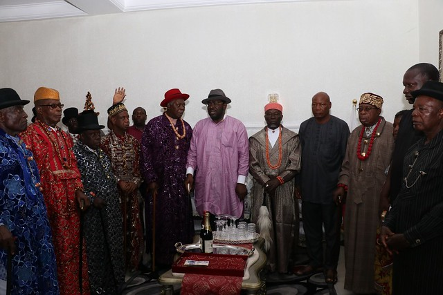 HSDickson- Condolence visit by Bayelsa State Traditional Rulers Council. 23rd August 2018