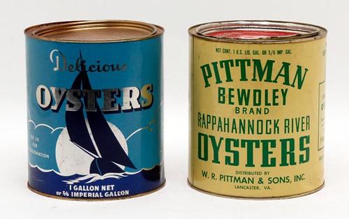 Oyster Tins- Pittman ($89.60) Sailboat ($84.00)