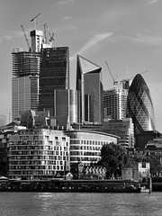 Square Mile / 20180830 (Images George Rex) Tags: f6ec7bee5fc444d0becafe7ce553f302 london uk architecture cityoflondon monochrome bw blackandwhite riverthames southwark gherkin scalpel cheesegrater england photobygeorgerex unitedkingdom britain imagesgeorgerex squaremile financialdistrict highrise