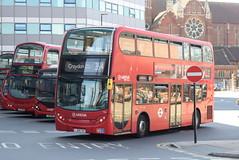 AL T65 @ West Croydon bus station (ianjpoole) Tags: arriva london alexander dennis enviro 400 lj08cxv t65 working route 264 st georges hospital tooting broadway park street croydon