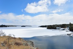 Sioux Narrows (l i v e l t r a) Tags: siouxnarrows lakeofthewoods lake ontario canada spring thaw ice water blue sky nikkor 1424f28g f8