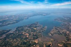 La plus belle rade du monde ! (jf.cudennec) Tags: nature landscape aerial bretagne brest rade plougastel crozon blue sky cloud canon 1635 summer été plane