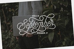 SEPTEMBER (wuaanxprince) Tags: typography typo typovn typographer september month