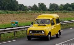 Renault 4 F4 1982 (XBXG) Tags: jh16sx renault 4 f4 1982 renault4 r4 quatrelle 4l jaune yellow van utilitaire bestelwagen bestel wagen fourgonnette n201 vinkeveen de ronde venen nederland holland netherlands paysbas youngtimer vintage old classic french car auto automobile voiture ancienne française vehicle outdoor