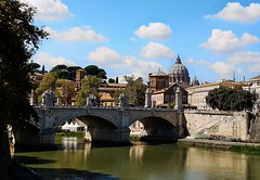 The Great Beauty (matteoleoni1) Tags: rome italy monuments river roma ponte milvio saintpeter cathedral vatican nopeople summer sunny sun travel landascape