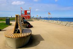 Promenade im Strandbad Cuxhaven-Altenbruch (Wolfgang.W. ) Tags: promenade altenbruch cuxhaven elbe grünstrand wasser strand nordsee küste
