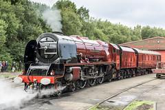 Shining (4486Merlin) Tags: duchessofsutherland semi 6233 england europe exlms heritagerailways lms8pduchess midlandrailwaycentre midlands railways steam transport unitedkingdom swanwick derbyshire gbr