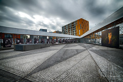 Chasseveld Breda (3) (PaulHoo) Tags: hdr chasseveld breda architecture buidling square pattern texture yellow 2018 city urban cityscape clouds contrast chasse chassepark