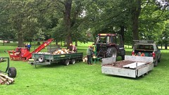VIDEO = Woodmen demonstration in Towneley Park, Burnley (rossendale2016) Tags: video trailer wagon electric petrol cutter tractor trees hall farmland farmers farm iconic dangerous countryside country outdoor trunks tree blocks circular saw cutting wood demonstration northern england lancashire burnley park towneley festival woodland heritage