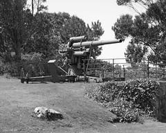 gun (markjwyatt) Tags: acoruna spain gun antiaircraft worldwarii wwii monochrome