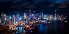 Hong Kong (Massetti Fabrizio) Tags: hongkong cityscape landscape landscapes light phaseone iq180 rodenstock river sea night hongkongnight fabriziomassetti famasse
