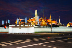 Grand palace and Wat phra keaw at dusk Bangkok, Thailand (Patrick Foto ;)) Tags: abstract ancient architecture asia asian background bangkok buddha buddhism building car cityscape culture dusk emerald famous gold golden grand history iconic keaw landmark landscape light night outdoor palace phra place religion road sky skyline street structure symbol temple thai thailand tourism trail travel twilight urban view wat yellow bangkokmetropolitanregion th