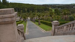 Looking down towards Seppeltsfield from the Seppelt Family Mausoleum, Barossa Valley South Australia (contemplari1940) Tags: seppelt seppeltsfield mausoleum burial ground barossa valley bennoseppelt josephgeroldseppelt architect