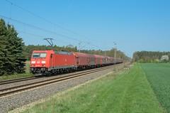 DB Cargo 185 282, Rohrsen (Sander Brands) Tags: trein treni train treno trenuri trenuro traktion traxx züg güterzug rail railfanning d7000 db dbc cargo nikon kbs 380 sun field grass spring