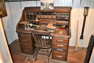 19th Century railroader's desk from the FEC's Eau Gallie depot 0085
