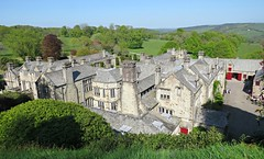 Looking Down On Lanhydrock Estate! ('cosmicgirl1960' NEW CANON CAMERA) Tags: lanhydrock nt cornwall green parks gardens trees blue sky buildings historic yabbadabbadoo