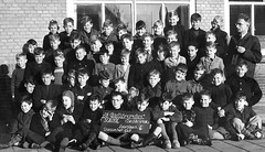 Class photo (theirhistory) Tags: children kid boy school trousers jumper shoes wellies boots teacher
