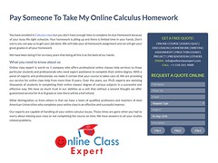 Pay Someone To Take My Online Calculus Homework For Me (onlineclassexpert) Tags: pay someone to take my online calculus homework for me