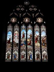 St Mary's Church west window, Denbigh (Pjposullivan1) Tags: stmaryschurch churchinwales anglicanchurch parishchurch denbigh gothicrevivalarchitecture stainedglass
