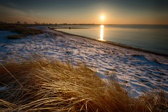 Ostseegold (dubdream) Tags: baltic sea ostsee landscape seascape water ocean color nikion germany dubdream schleswigholstein colorimage strandhafer sunset wetreflection calm winter grosenbrode d800 outdoors