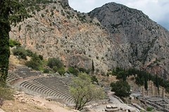 The Theatre of Delphi (demeeschter) Tags: greece delphi archaeological heritage historical ruins unesco parnassus mount ancient oracle museum art theatre stadium temple apollo