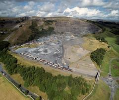 Arcow Quarry from the air (robmcrorie) Tags: arrow quarry settle carlisle railway 66761 gbrf class 66 phantom 4