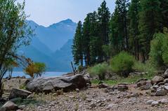 Boulder Lake Como (Cj Good) Tags: mountains boulder lake landscape shore pines rocks slopes mountain rock tree sky grass water forest wood