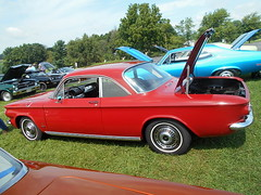 1963 Chevy Corvair Monza (splattergraphics) Tags: 1963 chevy corvair monza carshow reesevolunteerfirecompany westminstermd
