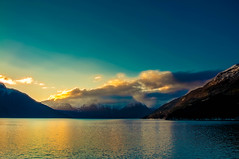 Waking up to the Fjords (Tony Shertila) Tags: cruise europe pig utne hordaland norway nor 20170414050056norwayhandangerfjordeidfjordlr handangerfjord fjord sea water mountains clouds light dawn