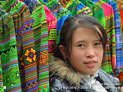 2018-03d Northeast Vietnam (80) (Matt Hahnewald) Tags: matthahnewaldphotography facingtheworld people head face beautifuleyes orientaleyes epicanthicfold teeth lips expression lookingcamera smile story traditional skirt embroidery clothes clothing garment tribal costume consent concept living work saleswoman culture tradition beauty business impact folklore market bazaar cancau laocai northern vietnam vietnamese hmong asia asian individual oneperson female adult young woman photo detail background nikond3100 primelens nikkorafs50mmf18g 50mm 4x3 horizontal street portrait closeup headshot threequarterview outdoor color colorful highangle posing authentic smiling beautiful sensual pretty soulful clarity