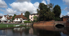 Finchingfield (peterphotographic) Tags: p8250204edwm olympus em5mk2 microfourthirds ©peterhall finchingfield essex england uk britain village bridge pond water road pub