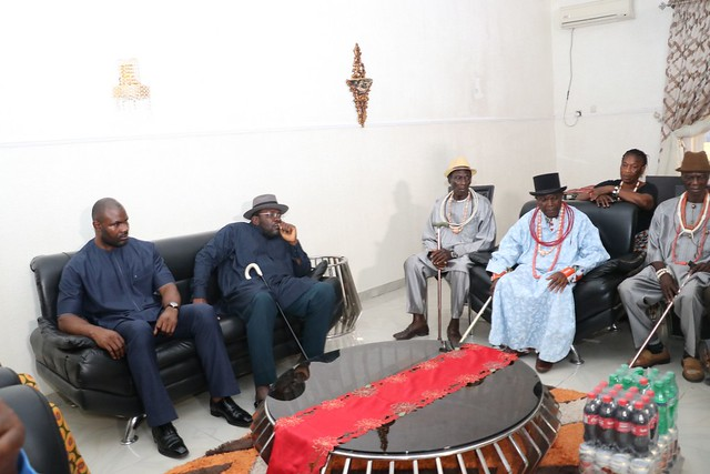 HSDickson-Condolence visit by Ekeremor Traditional Rulers Council. 29th August 2018