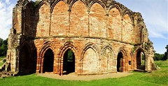 The Buttery (l) & chapel (r) (eucharisto deo) Tags: furness abbey lakes lake lakes18 district cumbria lancashire monastery monastic ruins ruin dissolution henry viii cistercian panoramic panorama arch portal