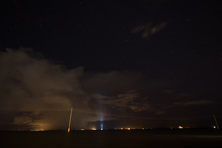 Lightning that delayed the SpaceX launch with Telstar 18V