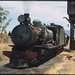 2.12.1968 Quorn - South Australia loco SAR T211 taking water - overhead water tank (mb-s003-07)