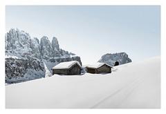 On the edge (Artery-Crea) Tags: rocks chalet leefilter colourphotography landscape fineartphotography juliencarcano moutains snow winter dolomites